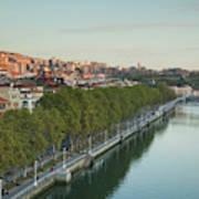 Elevated View Of The Zubizuri Bridge Poster