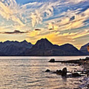 Elgol Beach At Sunset Poster