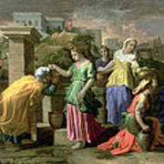 Eliezer And Rebecca At The Well Poster