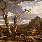 Elijah In The Desert Poster