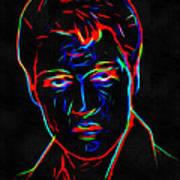 Elvis At Neon Poster