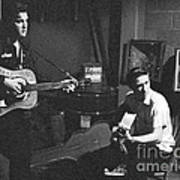 Elvis Presley and Scotty Moore 1956 Poster