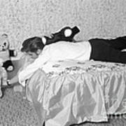 Elvis Presley At Home With His Teddy Bears 1956 Poster