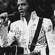 Elvis Presley Singing Poster