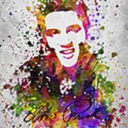 Elvis Presley In Color Poster