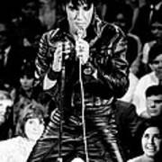 Elvis Presley In Leather Suit Poster