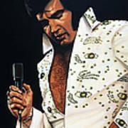 Elvis Presley Painting Poster