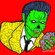 elvis presley Zombified Poster by Gary Niles