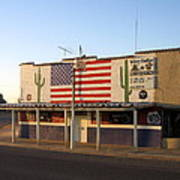 Emblazoned American Flag Silver Dollar Bar Eloy Arizona 2004 Poster