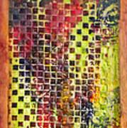 Embossed Blocks Encaustic Poster