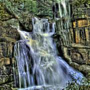 Emerald Cascade Poster by Bill Gallagher
