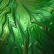 Emerald Flow Poster