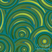 Emerald Green Abstract Poster