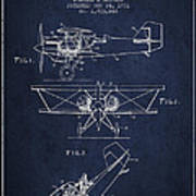 Emergency Flotation Gear Patent Drawing From 1931 Poster by Aged Pixel