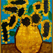 Emilie Sunflowers Poster