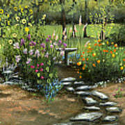 Emily's Garden Poster by Cecilia Brendel
