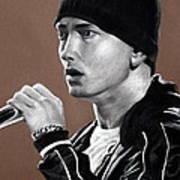 Eminem - Slimshady - Marshall Mathers - Portrait Poster by Prashant Shah
