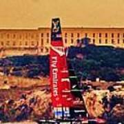 Emirates At Alcatraz Poster
