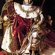 Emperor Napoleon I On His Imperial Throne Poster