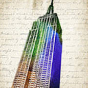 Empire State Building Poster by Aged Pixel