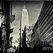Empire State Building And Macys In New York City Poster by Sabine Jacobs