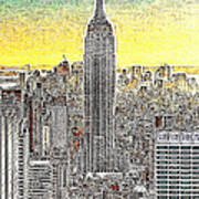Empire State Building New York City 20130425 Poster