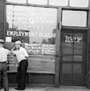 Employment Bureau, 1937 Poster