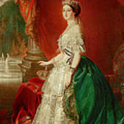 Empress Eugenie Of France 1826-1920 Wife Of Napoleon Bonaparte IIi 1808-73 Oil On Canvas Poster