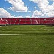 Empty American Football Stadium Poster