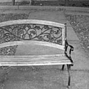 Empty Bench Poster by Stephanie Grooms