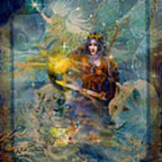 Angel Tarot Card Enchanted Princess Poster