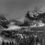 Enchanted Valley In Black And White Poster
