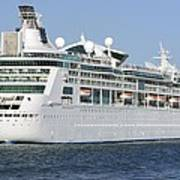 Enchantment Of The Seas Heading To Sea Poster