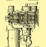 Engine Patent 1920 Poster