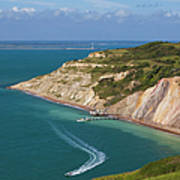 England, Isle Of Wight, View Of Alum Poster