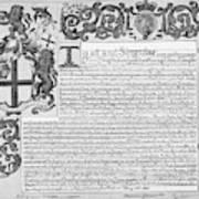 England Trade Charter Poster