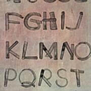 English Alphabet Music Sheets  Poster