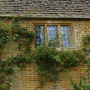 English Cottage Window Poster