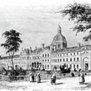 Engraving Of Salpetriere Hospital Poster