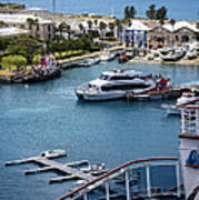 Enjoying The Harbor View Poster