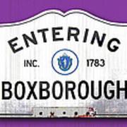 Entering Boxborough Poster