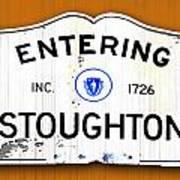 Entering Stoughton Poster
