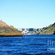Entering The Narrows Near Fort Amherst Rock By Barbara Griffin Poster