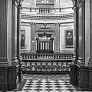 Entrance At Michigan State Capital  Poster