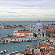Entrance To Grand Canal Venice Poster