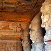 Entrance To The Great Temple Of Ramses II Poster