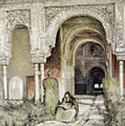 Entrance To The Hall Of The Two Sisters Poster