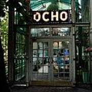 Entrance To Trendy Ocho Restaurant In San Antonio Texas Watercolor Digital Art Poster