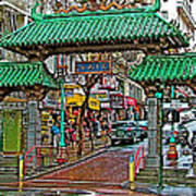 Entry Gate To Chinatown In San Francisco-california Poster