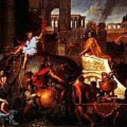 Entry Of Alexander Into Babylon Poster